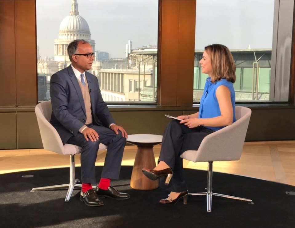 Manish Singh talks about US Fed, Brexit, US-China trade deal, Euro and Turkish Lira on Bloomberg